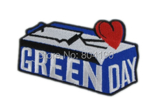 "3.54"" Green Day Blue Music Band Heavy Metal Iron On/Sew On Patch Tshirt TRANSFER MOTIF APPLIQUE Rock Punk Badge"