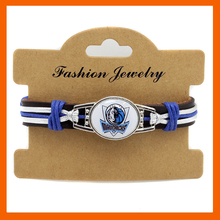 BEST FASHION DALLAS MAVERICKS GENUINE LEATHER BRACELET LEATHER BRACELET BASKETBALL OUTDOOR BRACELET DROP SHIPPING 6PCS/LOT!