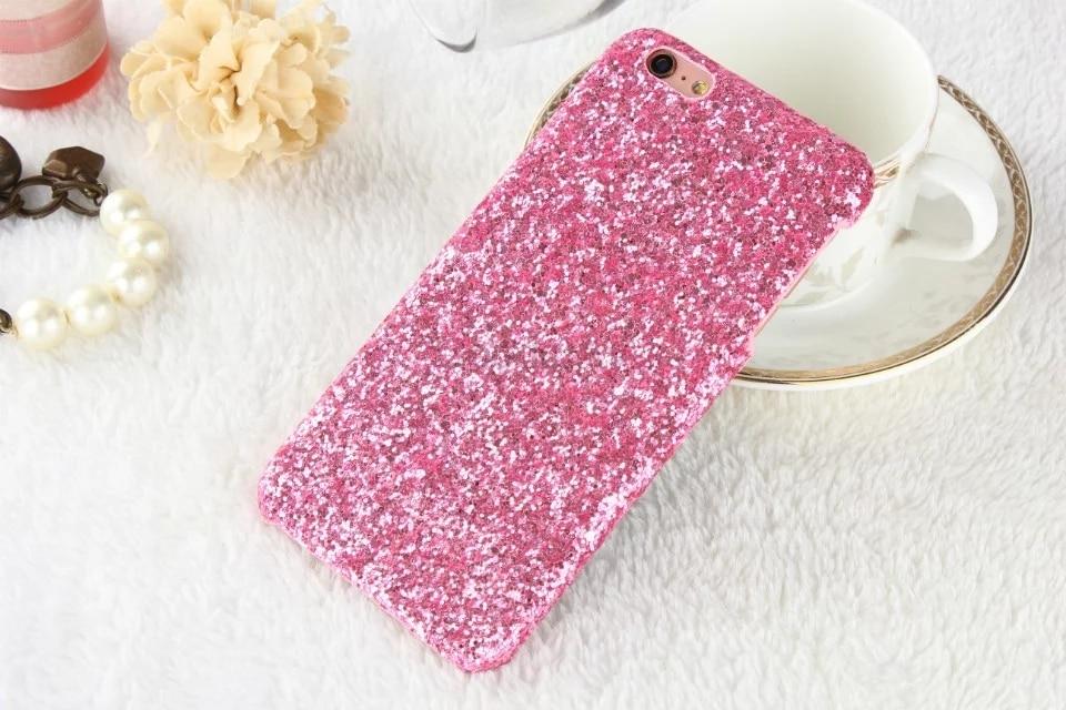 Coque Paillettes rose Brillantes Pour iPhone