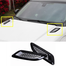 Exterior Hood Air Vent Outlet Wing Trim For Land Rover Range Rover Evoque  2012-2016 2pcs
