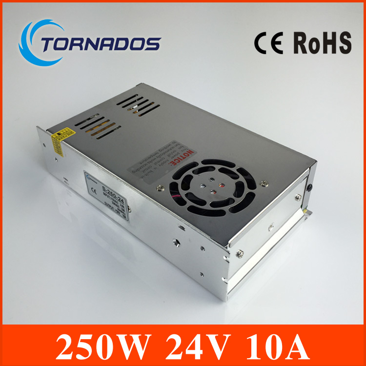 quality assured S-250-24 power supply 240w 24V 10A power suply 24v 240w ac to dc power supply unit ac dc converter<br>