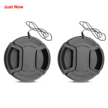 JUST NOW 2PCS 37/40.5/43/46/49 Front Lens Filter Snap On Pinch Cap Protector Cover For Canon For Nikon For Camera Lens