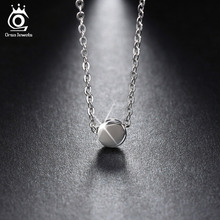 ORSA JEWELS 925 Sterling Silver Pendant Necklaces 44 cm for Women 2017 Genuine Silver Jewelry Gift SN04