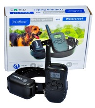 Petrainer 998DB Dog Remote Training Collar 330 Yard Rechargeable LCD 100LV Shock Anti Bark Training Collar for 1/2 dog