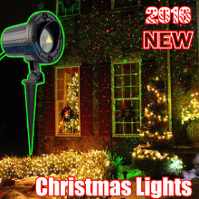 110V 220V Christmas Lights Outdoor Laser Projector Shower For Home Decorations Red Green Holiday Fairy Light With IR Remote(China)