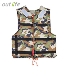 Outlife Outdoor Camouflage Life Vest Lifesaving Reflective Patch Life Jacket Flotation Device with Whistle Water Safety Products(China)