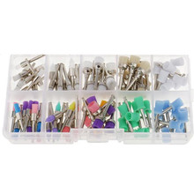100pcs/box Colorful Nylon Dental Polishing Brush Polisher Prophy Rubber Cup Latch Nylon Bristles Mix Style Dentist Lab Tool Kit(China)