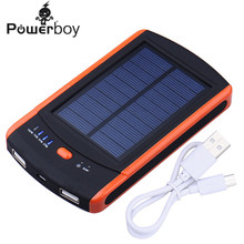 8000mAh Power Bank Solar Charger Bateria Externa Waterproof Battery Chargers Dual USB Powerbank for Smartphones