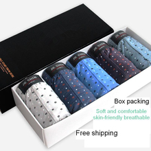 Gift box set Underpants mens panties 100% cotton underwear mid waist sexy underwear plus size breathable sous vetement homme