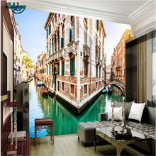 beibehang Venice city canal 3D backdrop picture decorative painting custom living room bedroom sofa wallpaper