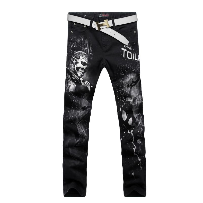 New arrival ! Fashion Straight Slim Fit Mens Jeans Korean Style Cotton Printing  Trousers Super Breathable Jeans Size 28~36Îäåæäà è àêñåññóàðû<br><br>