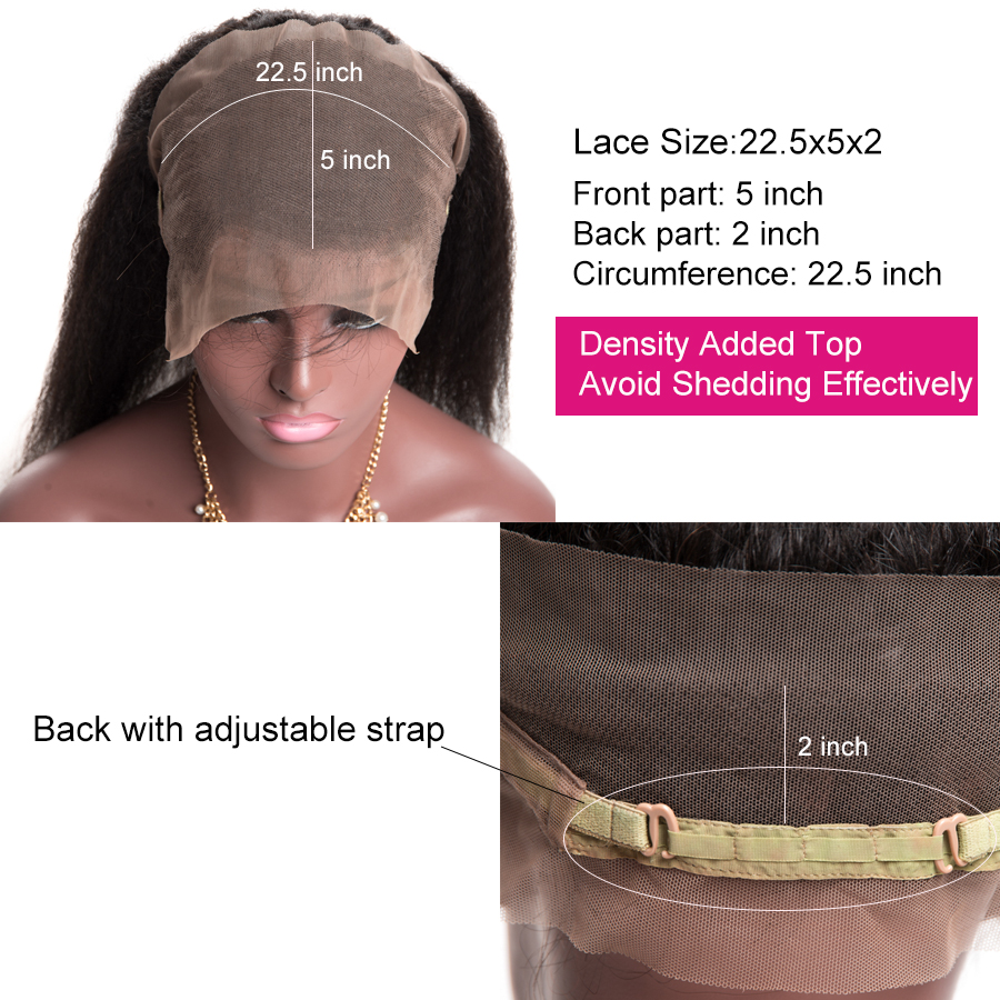 [ALIPOP] Pre Plucked 360 Lace Frontal Closure With Baby Hair Remy Brazilian Kinky Straight Hair Bundles 100% Human Hair Closure (6)
