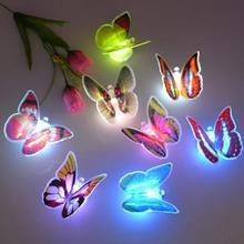 MINI decoration Butterfly Light,LED Night Light with Suction Cup for the best props for festivals,party, or Christmas Day(China)