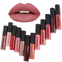 Makeup Matte Lipstick Long-Lasting Liquid Lip Makeup Tint Tattoo Lipstick Easy To Wear Nude Red Lip Gloss Cosmetic(China)
