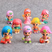 High Quality 8 Pcs/Set Pinypon PVC Toys Collectible Model Toy Children Gift 8 CM Random Styles