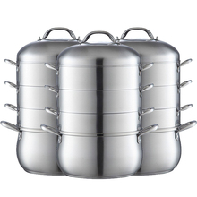 free shipping Specialty Tools cooking tool stainless steel steaming pot 28cm 4layers high quality