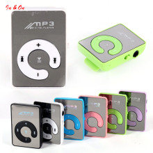 New Mini Mirror Clip USB Digital Mp3 Music Player Support 16GB SD TF Card