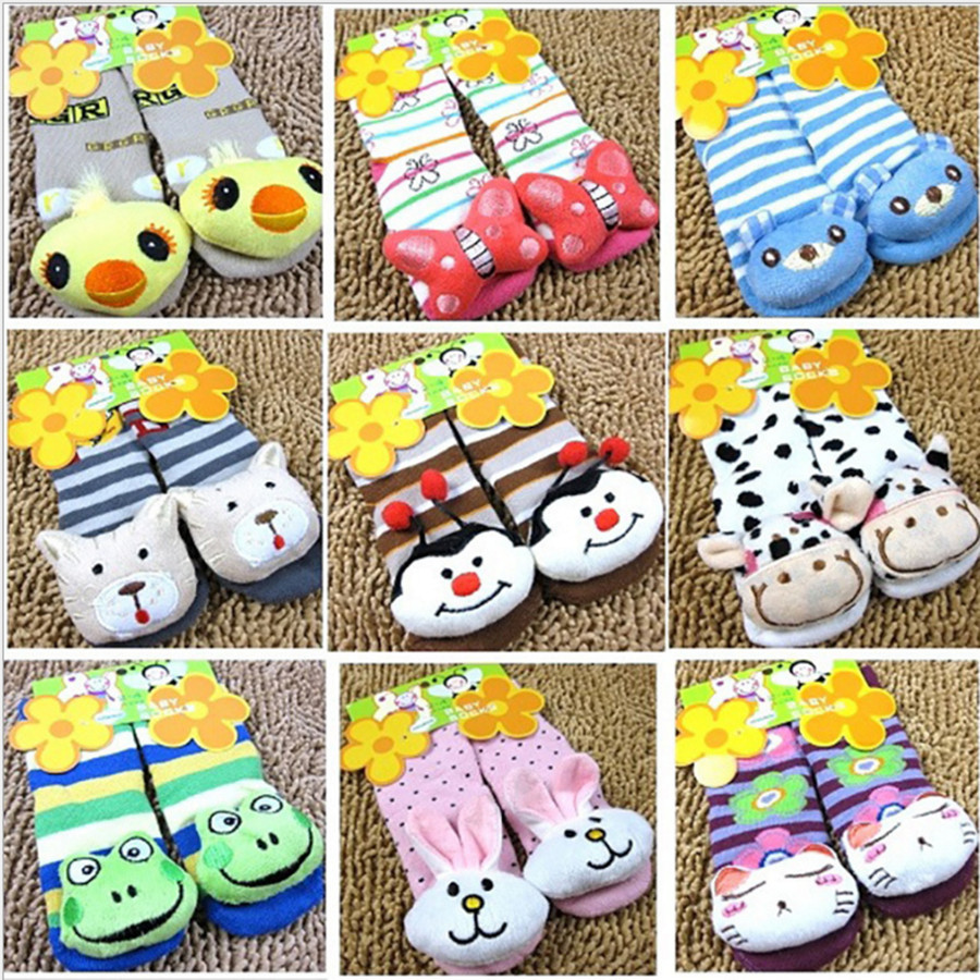 4 Pairs/lot Baby Socks Cartoon Rubber Slip-resistant Floor Socks Small Kid's Socks 0-2T Children Cute Warm Short Bebe Socks