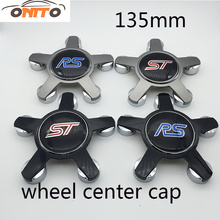 Best Match 4pcs 135MM 5claw black /gray base Emblem logo Covers Car Logo Badge Emblem Car Auto wheel hub caps(China)
