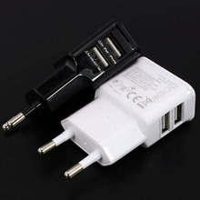2A Dual 2 Ports USB EU / US AC Wall Charger Adapter for Samsung for iPhone for HTC for MOTO Perfect for Galaxy Tab tablet