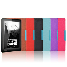 Smart slim PU leather cover case for Kobo aura 6 inch Ebook Reader (Not HD) free shipping + screen protector +Pen as gift