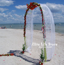 ZHENWEN-Wedding Decoration Party Props White Metal Wedding Arch(China)
