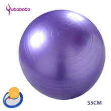 55CM PVC Unisex Yoga Balls for Fitness Brand Yoga Women Gym Fitness Balls Pilates Balls Explosion-proof balancer ball + Pump Air(China)