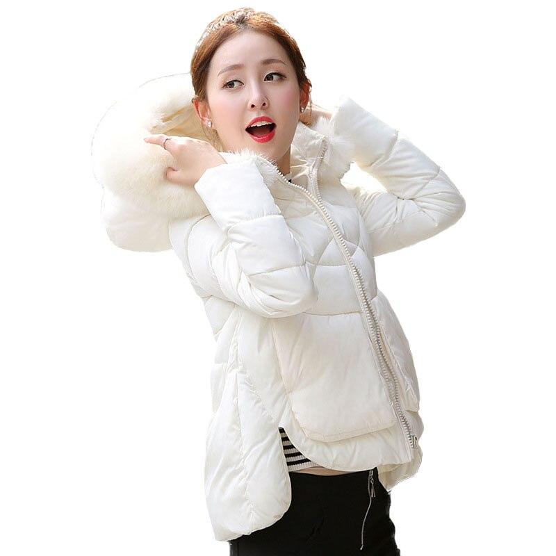 Winter Parka Women Faux Fur Hood Jacket Fashion White Womens Quilted Jackets Cotton Padded Coat Warm Windproof Outwear Big SizeÎäåæäà è àêñåññóàðû<br><br>