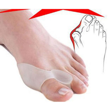 4pcsSoft Orthotics Bunion Protector Toe Straightener Toe Seperating Toe Gel Separators Eases Foot Care Hallux Valgus Pedicure