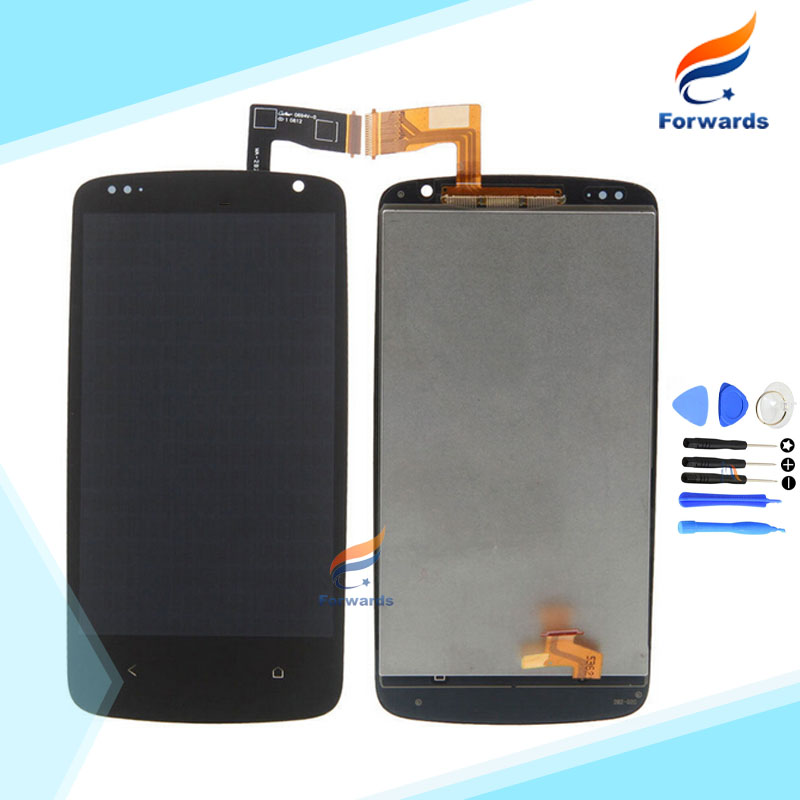 one Piece 100% Tested high quality For HTC Desire 500 LCD Screen Display Touch Digitizer Assembly with free tools Free shipping<br><br>Aliexpress
