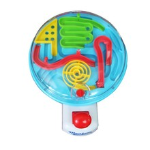 New Early Educational Plastic Maze Hand Control Steel Ball Handle Novelty Game Gift 3D Ball Maze Puzzle Adult Kids Intellect Toy(China)