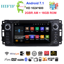 HIFIF Quad core Android 7.12 Car DVD for Chrysler 300C Aspen /Jeep Cherokee Commander Compass Wrangler Journey Navigation Radio(China)