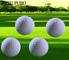3 pcs/lot New Golf Two Layer Driving Range Balls Golf Balls Flat Shape Practice Golf Balls Golf WYQ(China)