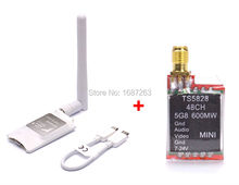 FPV 48CH TS5828 5.8GHz 600mW Transmitter Module + Mini 5.8G FPV Receiver UVC Video Downlink OTG VR Android Phone