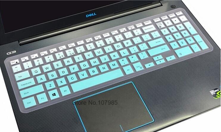 15.6 Inch Silicone Laptop Keyboard Cover Skin for Dell Vostro 15 5568 3562 3568 V3568 Vostro15 5000 V5568 Vostro 3559 2628 7570-Rainbow