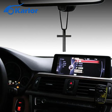 Cross 3 Colors Wow Car Auto Fashion Pendant Interior Jesus Religious Rear View Mirror Ornament Hanging Dangle Charm Car Styling(China)