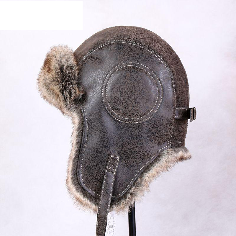 Winter New Arrival Male and Female Hat Thermal Wool Hat Pilot Bomber Hats Adjustable Fur Caps(China (Mainland))