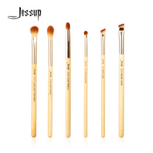 Jessup Brand 6pcs Beauty Bamboo Professional Makeup Brushes Set Make up Brush Tools kit Eye Shader Liner