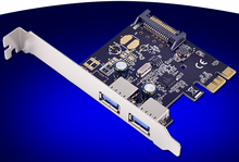 PCI-Express to External 2 Ports USB3.0 Expansion Card Adapter + 15Pin SATA Power