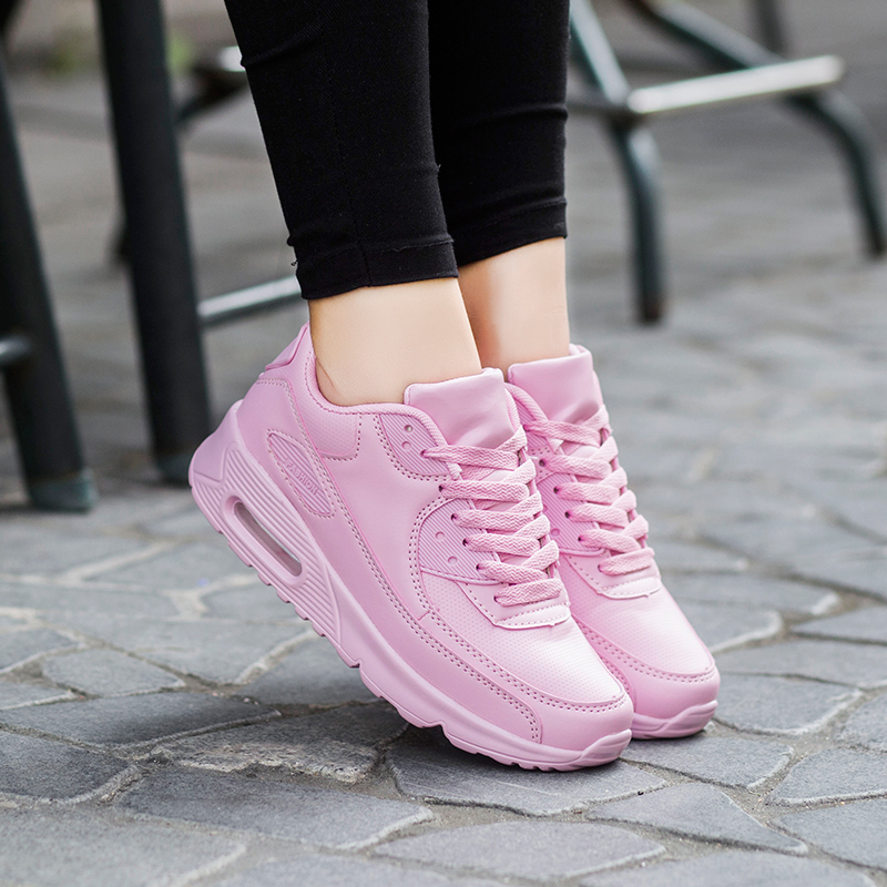 Leather Casual Shoes Comfortable Breathable Lace Up Flats Sport Woman Shoes Air Outdoor Walking women Shoes Zapatillas Mujer<br><br>Aliexpress