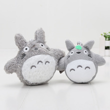 10cm / 13cm My Neighbor Totoro plush Anime with Ring Soft Stuffed Doll Totoro keychain pendant Toys(China)