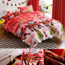 3D Christmas Bedding Set Duvet Cover Sets Queen Elegant Snowflake Comforter Bedding sets Modern Cartoon Decoration Silk Bedding