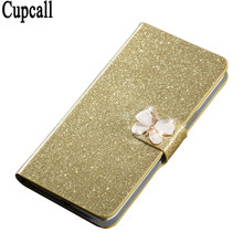 Bling Rhinestone PU Leather Case For Samsung Galaxy Gio S5660 Cover Original Flip Stand Wallet Phone Coque Card Slot(China)