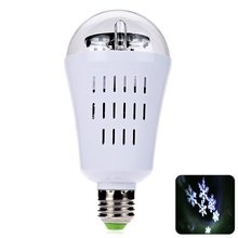 E27 LED Bulb 3 Patterns 4W Colorful LED Light Lamp Auto Rotating Snowflake LED Light Bulb For Bedroom Lighting Bulb Decor 1PCS(China)