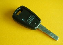 Black Replacement Car Key Case for Fiat Punto Bravo Remote Key Shell FOB Key Blanks(China)