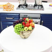 Play toys 1:12 Dollhouse Miniature Kitchen accessories A bowl of fruit grapes Free shipping