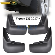 Set Molded Mud Flaps For VW Tiguan 2 Mk2 2016 2017 2018 Mudflaps Splash Guards Front Rear Mud Flap Mudguards Fender Kit