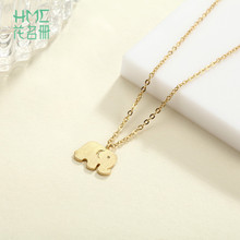 New Design Cute Little Gold Elephant Pendant Light Gold Color 925 Sterling Silver Fit Lovely Girl Fashion Jewelry Gifts(China)