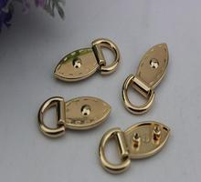 Free shipping (10 PCS/lot) diy bag metal fittings bag with side band ring screw hang bag hook buckle all sorts of rivet