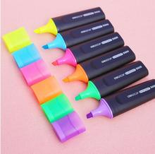2015 New Six Color Highlighters Deli Marker Stationery Office School Supplies